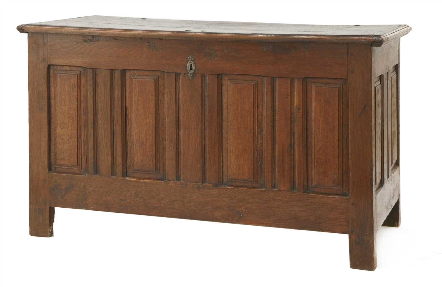 Lot 9-An oak coffer