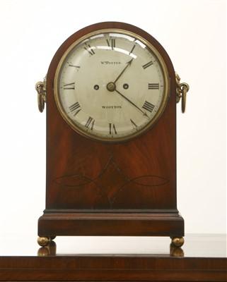 Lot 153 - A Regency strung mahogany mantel clock