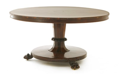 Lot 3-A Victorian rosewood centre table