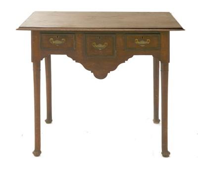 Lot 170 - An oak side table