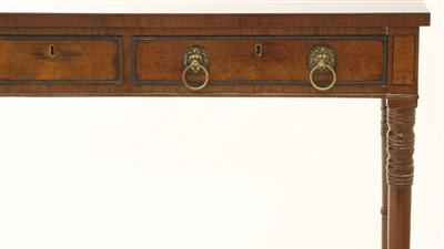 Lot 45 - A mahogany serving table