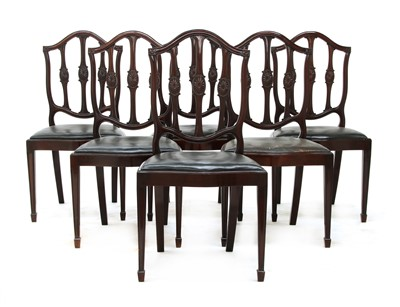 Lot 40 - A set of twelve mahogany Hepplewhite-style dining chairs
