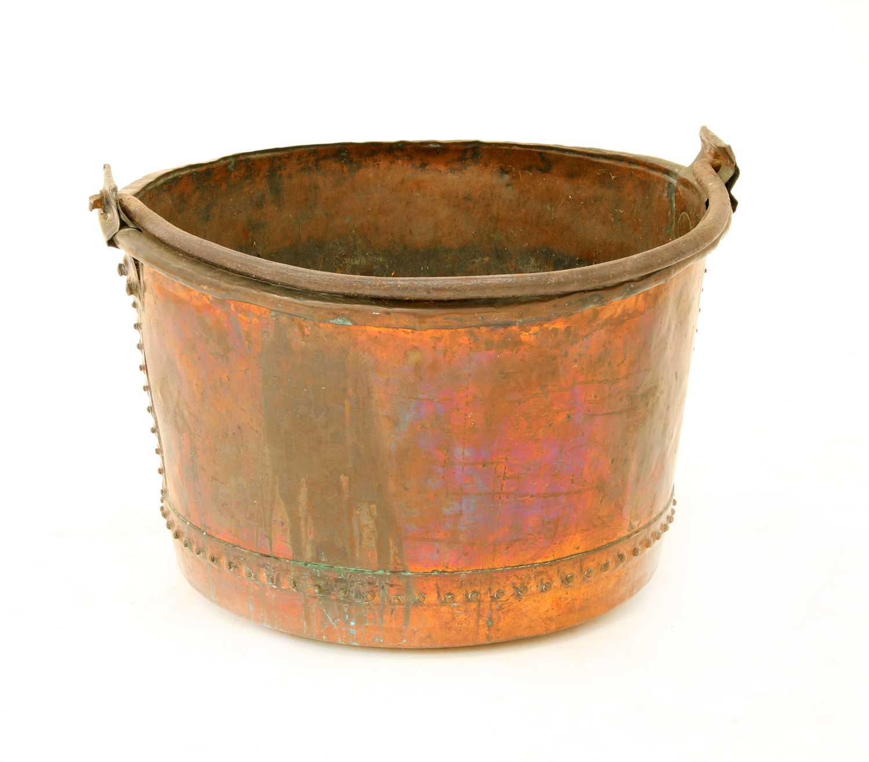 Lot 27 - A large copper log basket