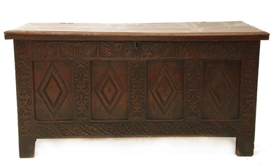 Lot 6-An oak coffer