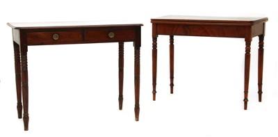 Lot 196 - A Victorian mahogany fold-over tea table