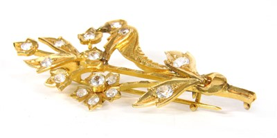 Lot 8-A Continental gold spray brooch