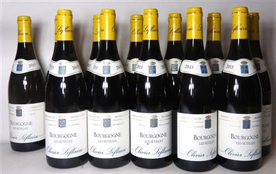 Lot 19-Oliver Leflaive, Bourgogne Les Sétilles, 2015, twelve bottles (boxed)