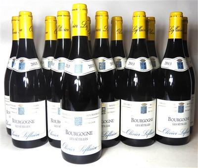 Lot 21-Oliver Leflaive, Bourgogne Les Sétilles, 2013, twelve bottles (boxed)
