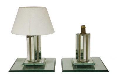 Lot 45-A pair of glass lamps