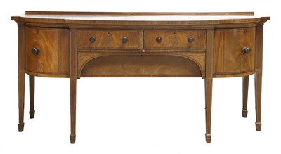 Lot 53 - A George III bow front sideboard