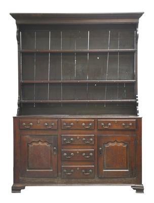 Lot 167 - A George III oak dresser