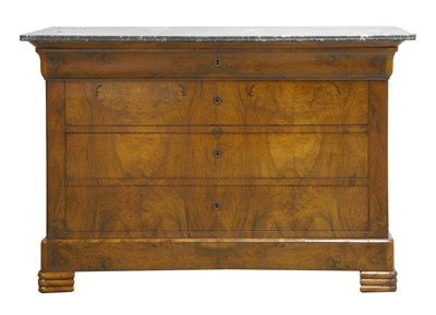 Lot 202 - A Louis Philippe walnut commode
