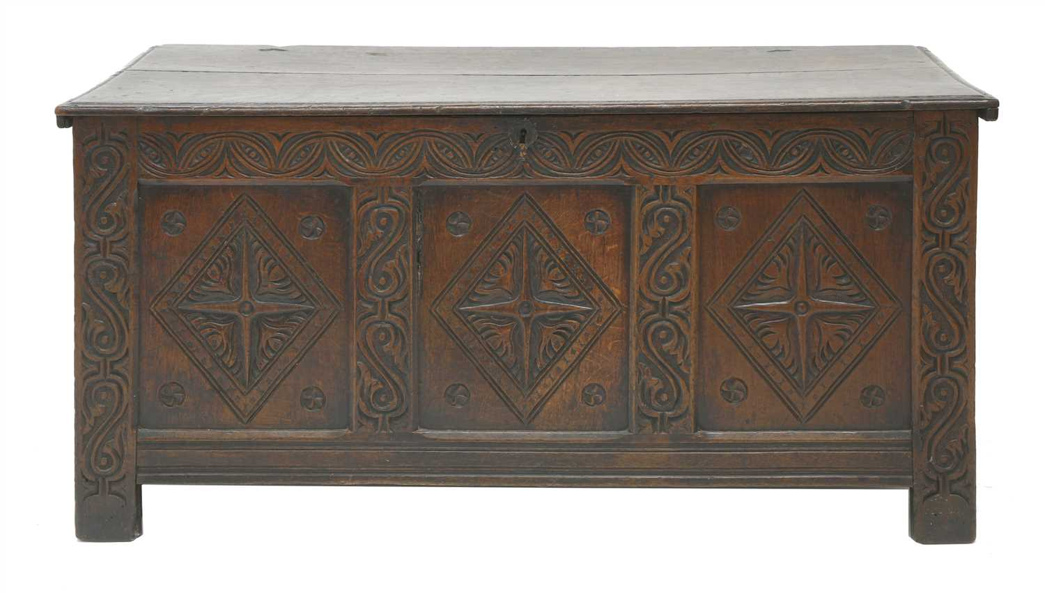 Lot 8-An oak coffer