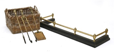 Lot 50 - A Victorian steel and brass fender