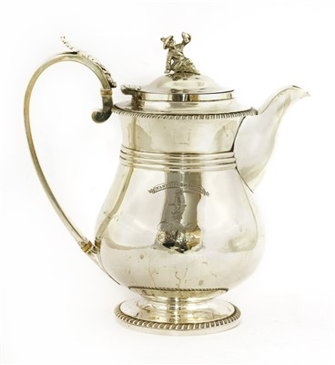 Lot 3-A George lV silver hot water jug