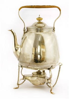 Lot 2-A George III silver kettle