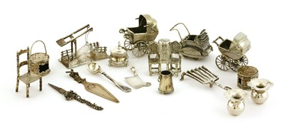 Lot 41-A collection of silver miniatures