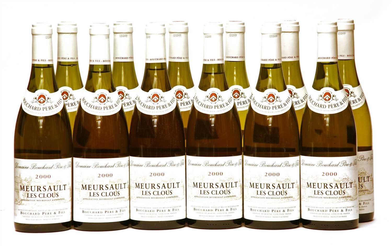 Lot 11-Bouchard Père et Fils, Meursault Les Clous, 2000, twelve bottles (boxed)