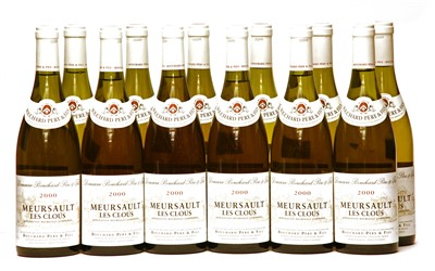 Lot 11-Bouchard Père et Fils, Meursault Les Clous, 2000, twelve bottles (boxed)