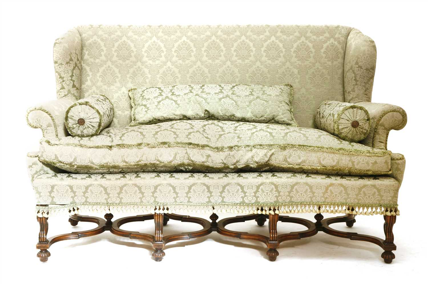 Lot 2-A Continental three-seater settee