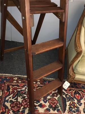 Lot 99 - A set of modern pine folding library steps