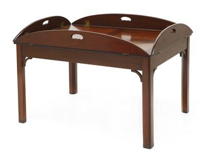 Lot 103 - A modern mahogany butler's tray coffee table