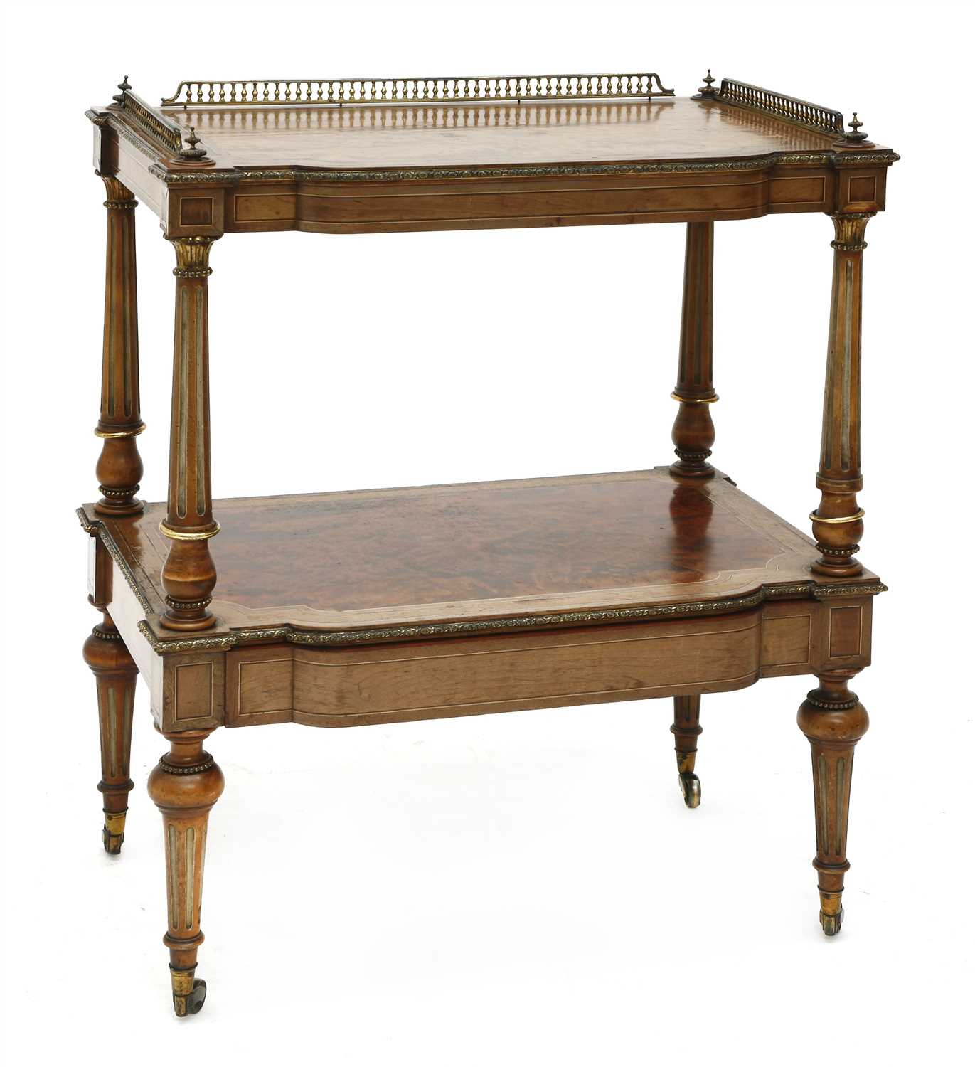 Lot 16-A Victorian two-tier étagère