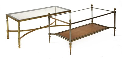 Lot 162 - Two modern brass coffee tables