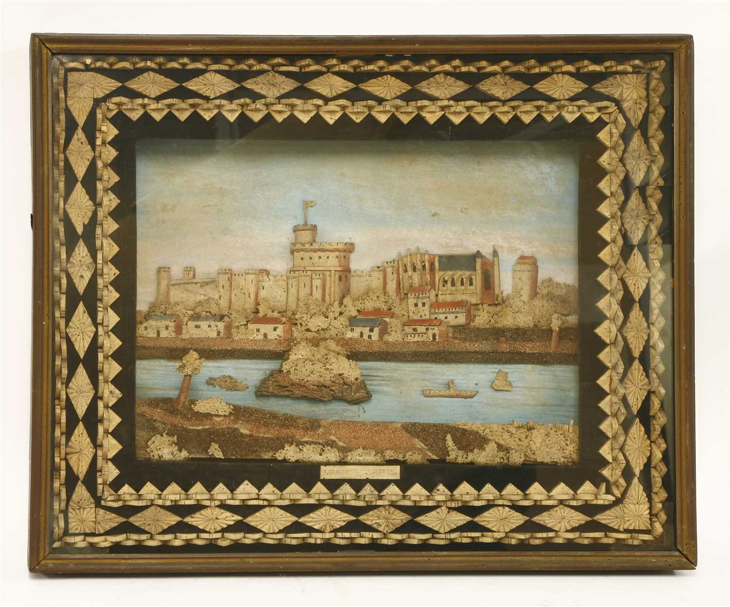 Lot 165-A cork picture of Windsor Castle