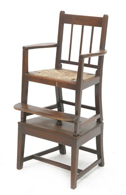 Lot 56 - A George III mahogany child's chair on stand