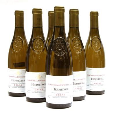 Lot 1-Delas, Marquise de la Tourette, Hermitage, 2006, six bottles (boxed)