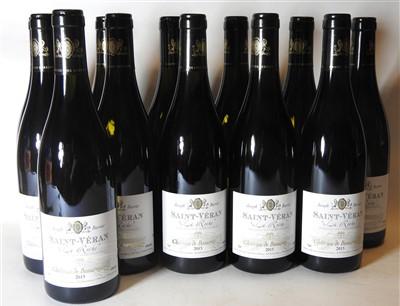 Lot 27-Château de Beauregard, Saint-Véran, La Roche, 2015, twelve bottles (boxed)
