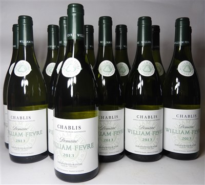 Lot 22-Assorted William Fevre, Chablis, 2013 and 2014, twenty-four bottles in total