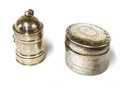 Lot 31-A George III silver nutmeg grater