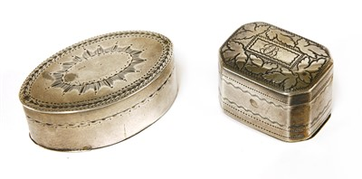 Lot 30-A George III silver nutmeg grater