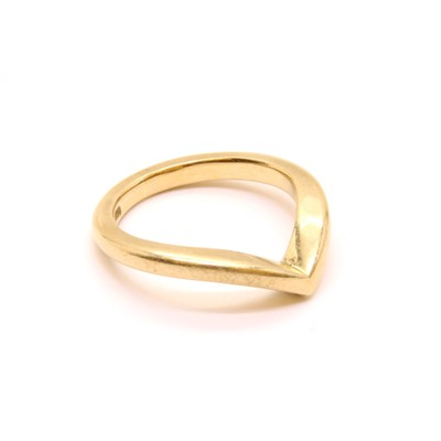 Lot 21A-A gold half wishbone ring