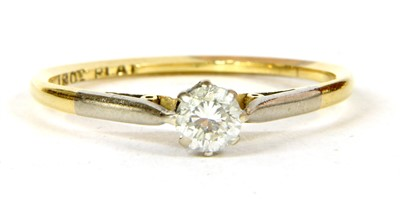 Lot 15A-A diamond solitaire ring