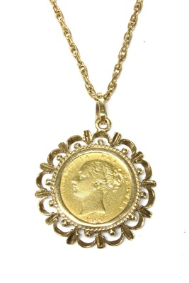 Lot 2A-A shieldback full sovereign pendant