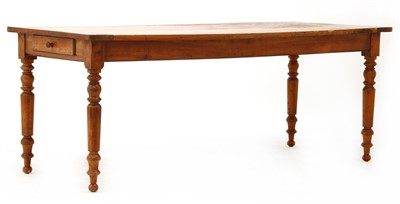 Lot 183 - A French kitchen table