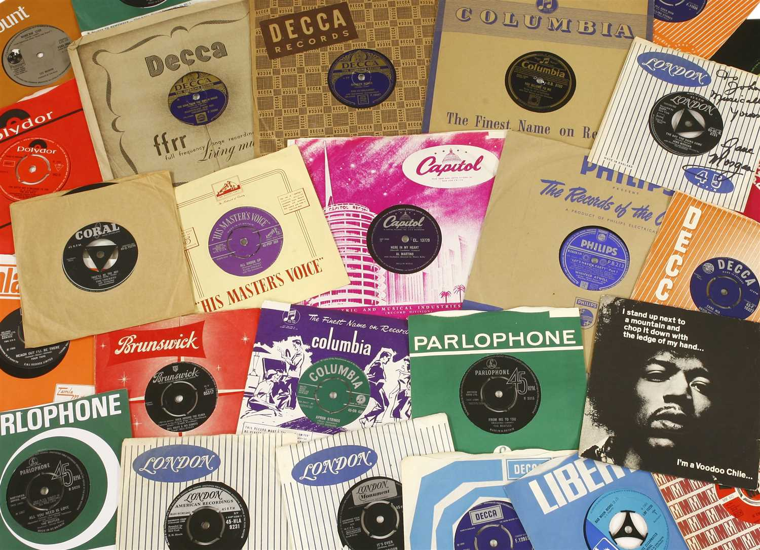 Lot 219-A unique collection representative of the golden age of the single record