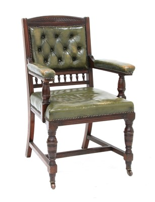 Lot 151 - A late Victorian mahogany desk chair