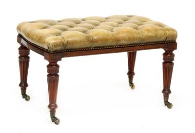 Lot 150 - A Victorian mahogany footstool