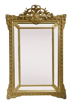 Lot 200 - A pair of Victorian giltwood and gesso wall mirrors