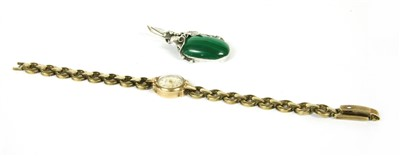 Lot 8-A 9ct gold ladies Accurist strap watch