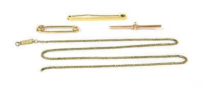 Lot 1B-A 9ct gold tie pin