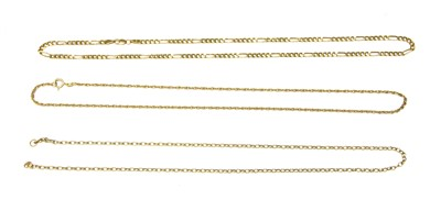 Lot 4A-A 9ct gold filed Figaro chain