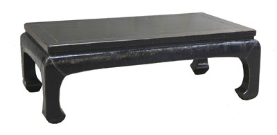 Lot 14-An Oriental black lacquered coffee table