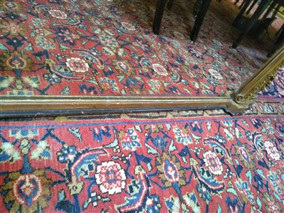 Lot 49 - A large Victorian gilt gesso overmantel mirror
