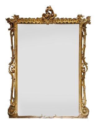 Lot 160 - A Victorian giltwood overmantel mirror