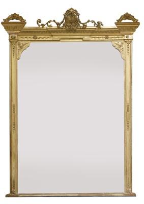 Lot 135 - A Victorian gilt gesso overmantel mirror